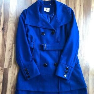 Women's brilliant blue peacoat